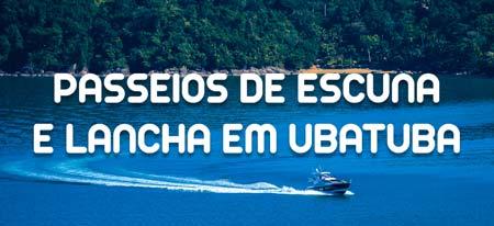 Lancha navegando para ilustrar a página sobre Passeios de Escuna e Lancha em Ubatuba - Clique para saber mais no site Go Ubatuba (parceiro)