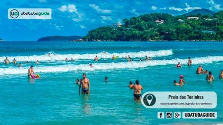 Os extremos da Praia das Toninhas são mais seguros para crianças entrarem no mar