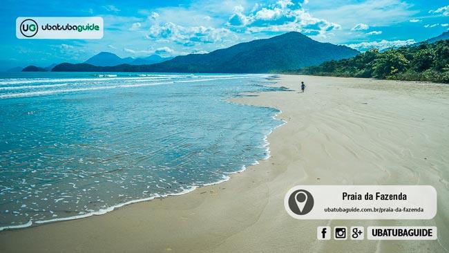 A primeira das oito praias de Ubatuba em área de proteção ambiental, a Praia da Fazenda é não somente uma ótima praia para banho, como também extremamente limpa