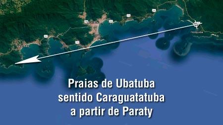 Praias de Ubatuba Sentido Caraguatatuba