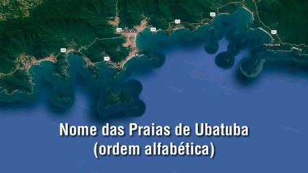 Nome das Praias de Ubatuba - Praias de Ubatuba em Ordem Alfabética