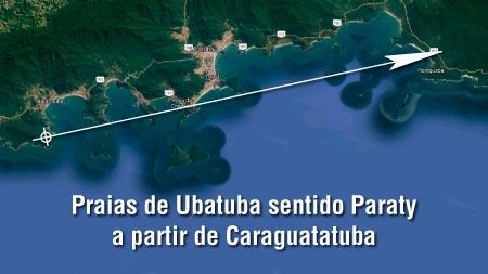 Praias de Ubatuba Sentido Paraty