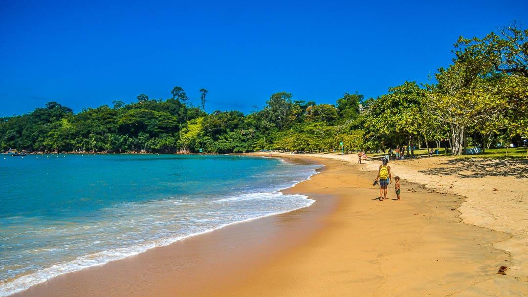 Águas cristalinas e orla arborizada da Praia do Pulso fazem dela uma excelente praia de Ubatuba para visitar com a família