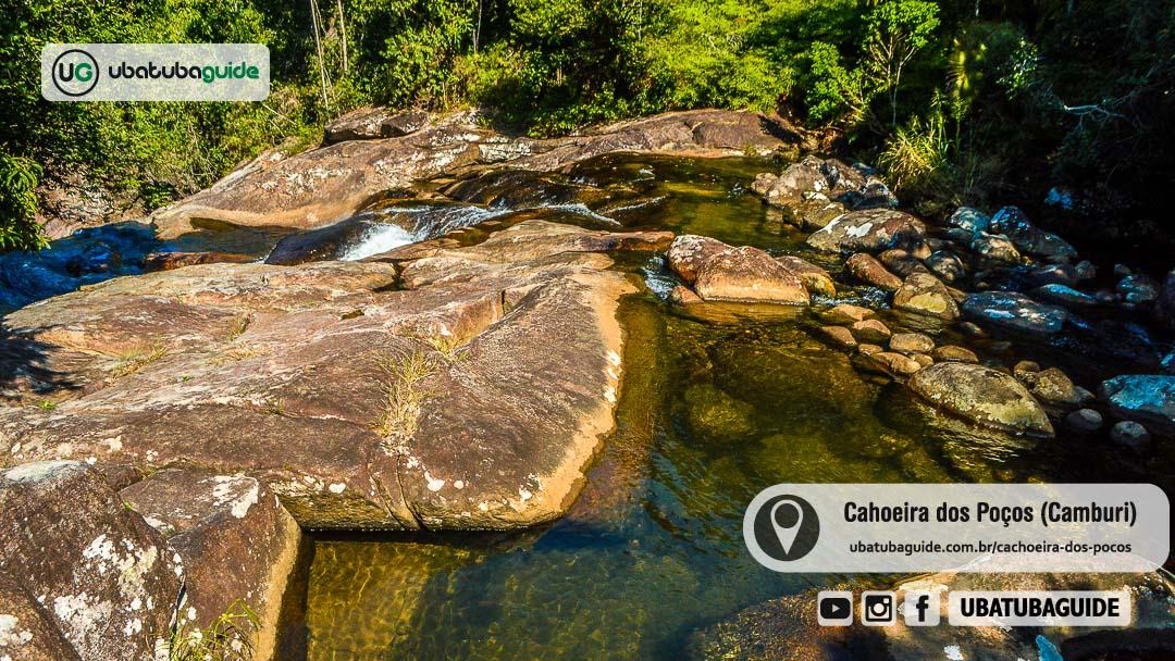 Cachoeira dos Poços na Camburi das Pedras, Ubatuba