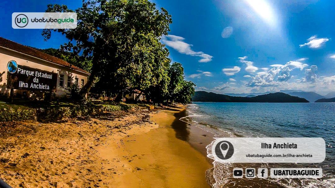 Foto do Parque Estadual da Ilha Anchieta em Ubatuba SP