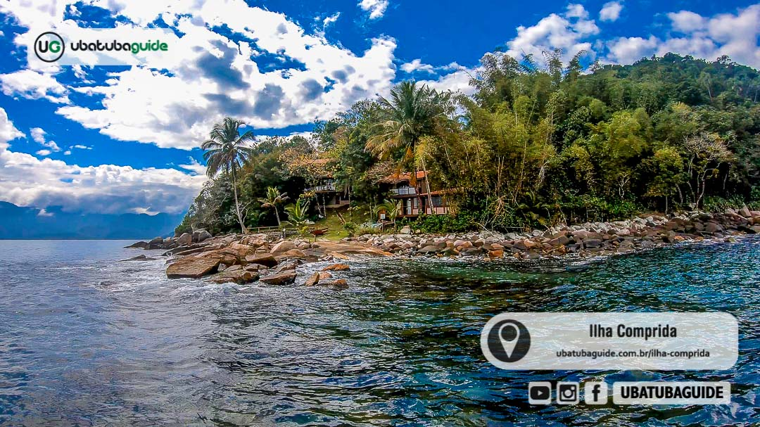 Acesso principal do imóvel privado na Ilha Comprida em Ubatuba