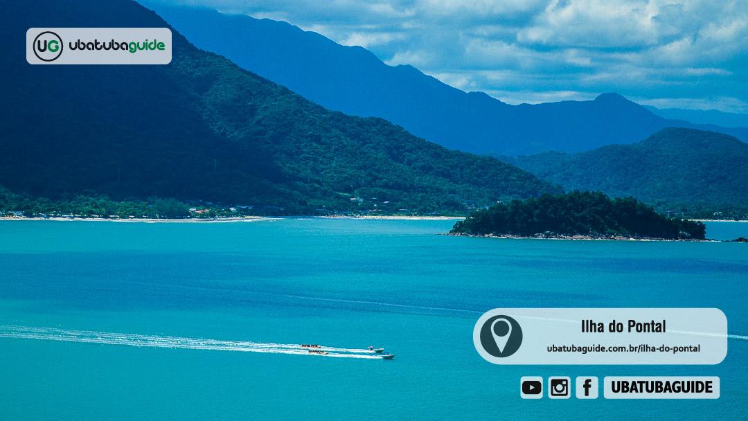 Registro da Ilha do Pontal em Ubatuba revelando sua localização próxima da Praia do Sapê