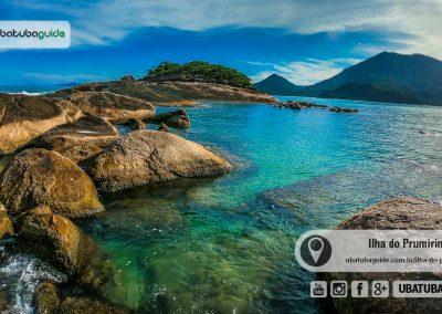 Águas transparentes no Pontão da Ilha do Prumirim, um excelente ponto de mergulho