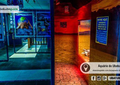 Simulador de temperatura no Aquário de Ubatuba