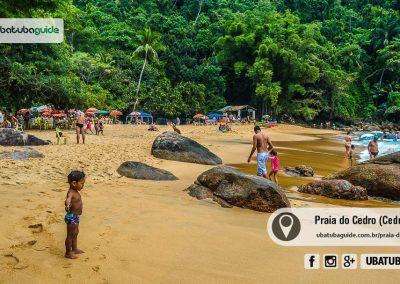 Apesar de ser de tombo, a Praia do Cedrinho é muito frequentada por famílias