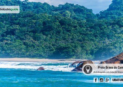 Ondas quebrando na costeira da Praia Brava do Camburi em Ubatuba. Registro feito a partir da Praia do Grosa que, assim como a Brava, é outra praia deserta de Ubatuba.
