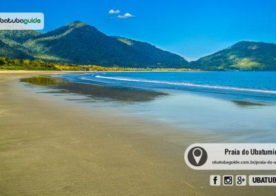 Extensa e rasa, a Praia do Ubatumirim é uma das melhores praias de Ubatuba para banho de mar na região norte. Muito procurada por famílias.