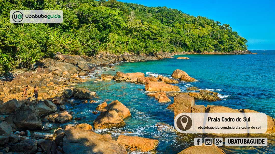 Costeira de acesso da Praia do Cedro do Sul que, assim como a Prainha e a Praia Deserta, são ótimos locais para a prática de mergulho livre na costa sul de Ubatuba