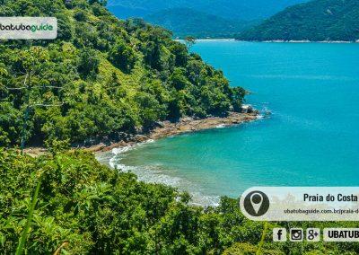 Acessível apenas por trilha, a Praia do Costa não tem nenhum comércio e é tanto reservada como uma ótima praia de Ubatuba para nadar e tomar aquele banho de mar