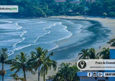 Vista a partir do Mirante da Enseada da Praia da Enseada, uma das melhores praias de Ubatuba para banho na região sul