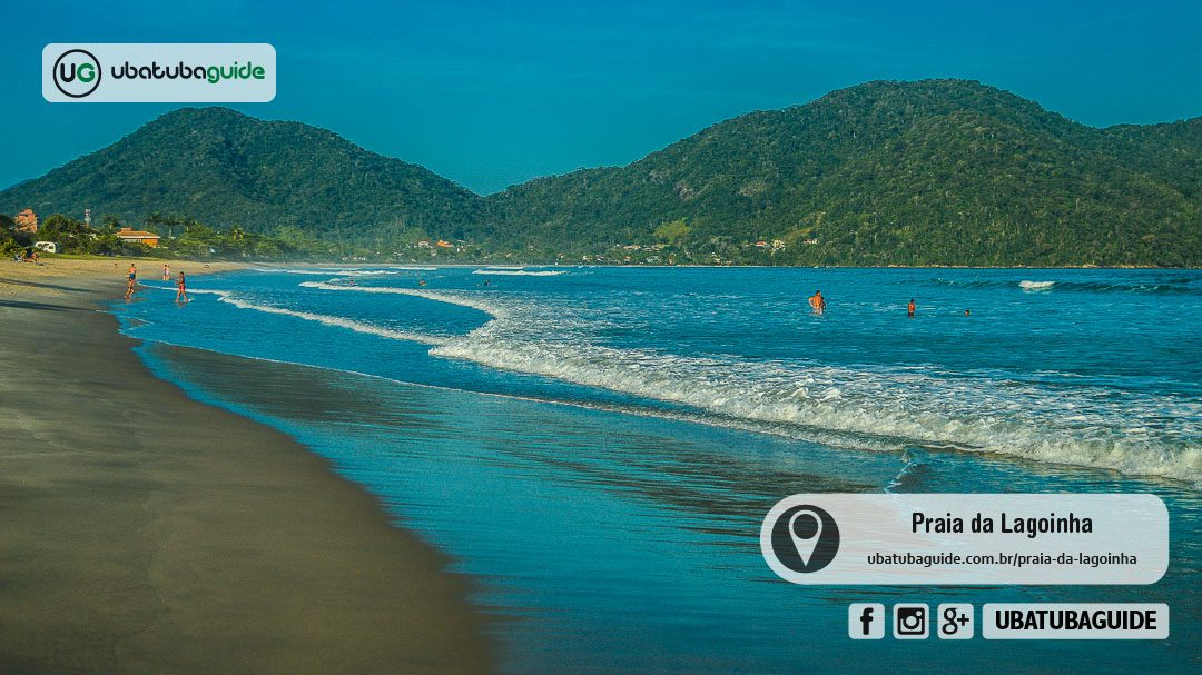 Apesar da pouca disponibilidade de comércios, a Praia da Lagoinha é ideal para passar o dia com a família