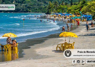 Com ótima infraestrutura comercial e turística, a Praia de Maranduba é destino de famílias com crianças e todos os outros públicos