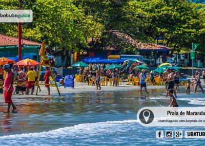Além de ser uma das mais movimentadas de Ubatuba, a Praia da Maranduba é destino de famílias, banhistas e crianças. Uma das melhores praias de Ubatuba para banho de Ubatuba.