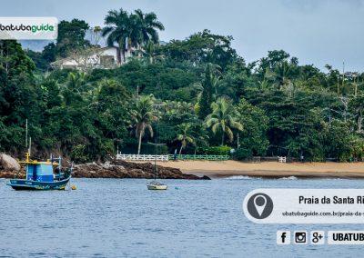 Praia da Santa Rita, boa para banho e frequentada por casais. Vista a partir da Praia do Lamberto