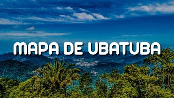 Mapa de Ubatuba - Vista da Serra de Ubatuba