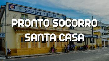 Fachada da Santa Casa de Ubatuba e do Pronto Socorro Municipal